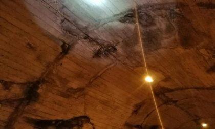 Val di Scalve, si staccano pezzi della galleria sulla Via Mala