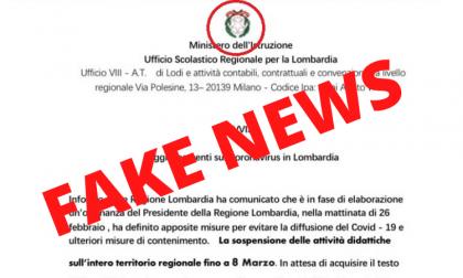 Scuole chiuse fino all'8 marzo, ma è una fake news