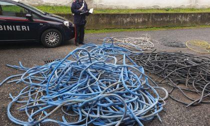 Migliaia di metri di cavi elettrici rubati e nascosti in un deposito, tre denunciati per ricettazione