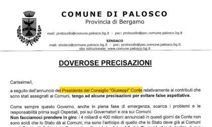 Palosco, il sindaco prende in giro Conte su carta intestata