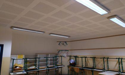 Dopo i cedimenti del soffitto cinque aule rimesse a nuovo FOTO
