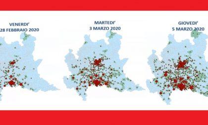 La mappa del contagio e i numeri di oggi. A Treviglio tre reparti fanno spazio ai pazienti Covid