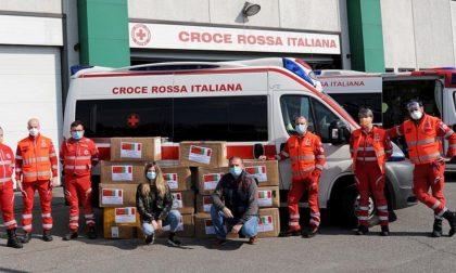 Dalla Cina mascherine, occhiali e camici in regalo alla Croce rossa di Crema