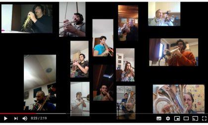 Liberazione,  la banda di Treviglio suona l'Inno di Mameli  a distanza  VIDEO