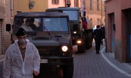 A Cologno e Calcio l'esercito russo per sanificare le Rsa FOTO VIDEO