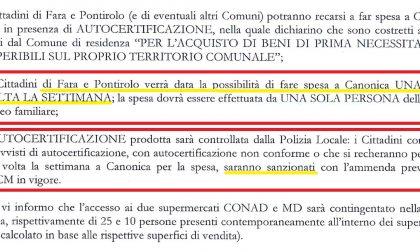 """Cerea blinda Canonica: """"Da Fara e Pontirolo potete venire solo una volta a settimana""""  IL DOCUMENTO"""