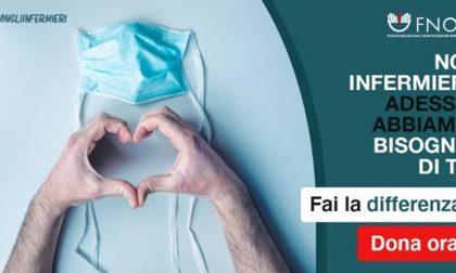 Noi con gli infermieri: al via la campagna di raccolta fondi della Fnopi