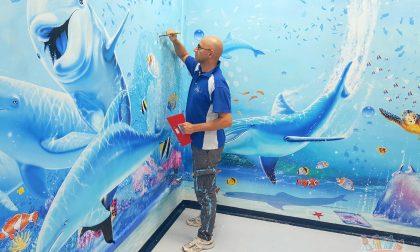 Un mare di colori contro la paura: Ospedali Dipinti dona tre separé ai reparti pediatrici FOTO