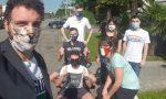 I giovani della Lega distribuiscono mascherine ai commercianti