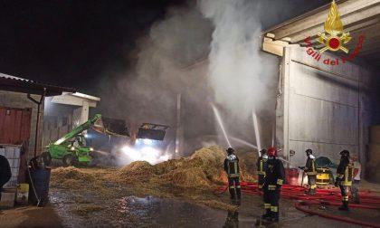 Incendi domati in una cascina ad Arcene e alla Tenaris Dalmine FOTO