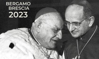 Papa Giovanni XXIII e Paolo VI per unire Bergamo e Brescia