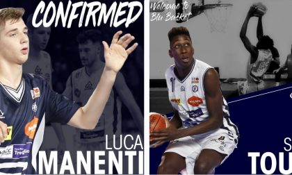 Nel roster Blu Basket i giovani Toure e Manenti
