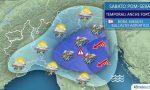 Allerta meteo, sabato temporali forti con grandine e raffiche di vento