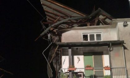 Il vento sventra il tetto, due famiglie restano senza casa