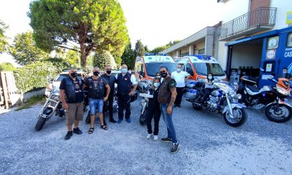 I riders Valkyrie donano un sanificatore alla Casirate Soccorso FOTO e VIDEO