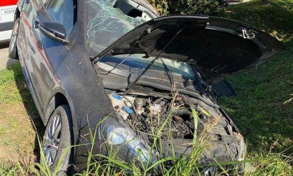 Martinengo, perde il controllo dell'auto e finisce fuori strada FOTO