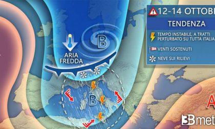 Ci attende un altro weekend di maltempo e vento freddo