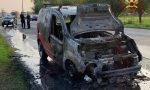 Furgone a metano prende fuoco, paura tra Brignano e Lurano FOTO