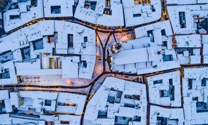 Le spettacolari immagini di Treviglio dall'alto coperta di neve GALLERY