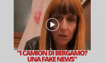 Il Comune di Bergamo denuncerà una negazionista, secondo cui i camion con le bare erano una balla VIDEO