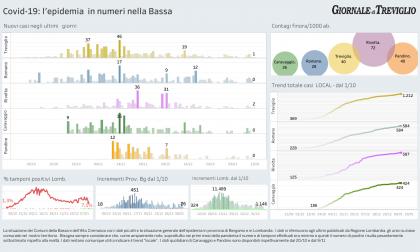 Covid-19, i dati  di oggi nella Bassa: aumentano i ricoveri in Lombardia
