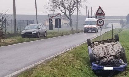 """Incidente """"fantasma"""" a Casirate: auto abbandonate dopo lo schianto"""