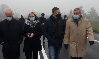 """""""Tangenziale di Boltiere pronta nel 2023"""": Terzi e Malanchini in visita al cantiere"""
