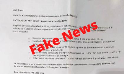 Truffa sui vaccini anti-Covid, la lettera dell'Asst Bergamo Ovest è falsa