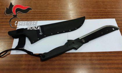 Armato di machete terrorizza e rapina i passanti