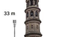 Le antenne da 34 metri e il bel campanile