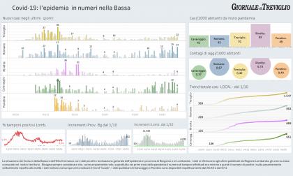 Covid-19, i dati di martedì  nella Bassa. Treviglio +13, Romano +14