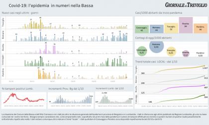 Covid-19, i dati di oggi: cresce Martinengo, Treviglio +7, Romano +11 casi