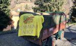 La solidarietà degli agricoltori per i colleghi allevatori isolati dalla frana a Parzanica