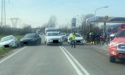 Incidente a Osio Sotto, quattro veicoli coinvolti e due feriti