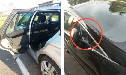 Finestrini delle auto in frantumi, a Verdello una vera e propria strage