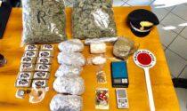 Supermarket della droga: trovati 4kg tra marijuana, hashish e cocaina