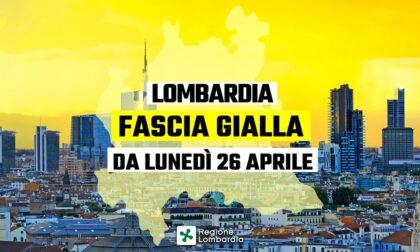 Da lunedì 26 aprile la Lombardia sarà zona gialla