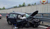 Auto contro camion in Brebemi, ferito un 40enne