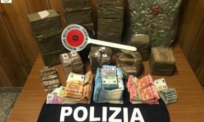 Narcotraffico, in casa aveva 20 chili di droga e 65mila euro: arrestato