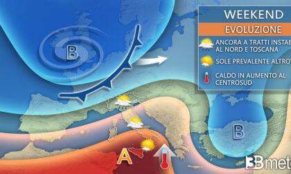 Weekend pazzo con temporali al Nord e caldo africano al Sud