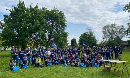 Anche Canonica sostiene Plastic Free, 50 sacchi di rifiuti raccolti sulle rive dell'Adda e del Brembo