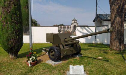 Restaurato il vecchio cannone di Ciserano