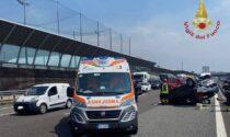 Incidente in autostrada: due feriti
