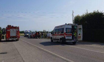 Ennesimo incidente sulla Soncinese: arriva l'elisoccorso