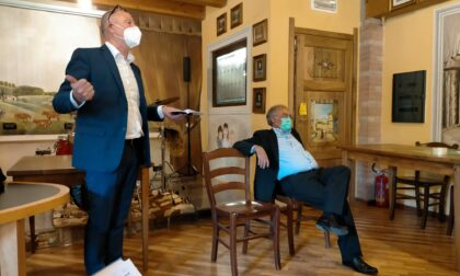 Caravaggio, clamorosa protesta di FI alla presentazione di Mangoni