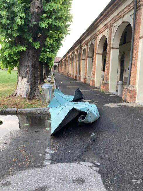 maltempo danni al Santuario di Caravaggio