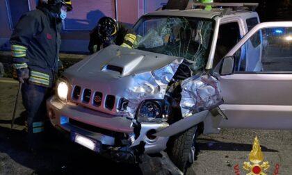Frontale auto-camion a Zogno: un ferito