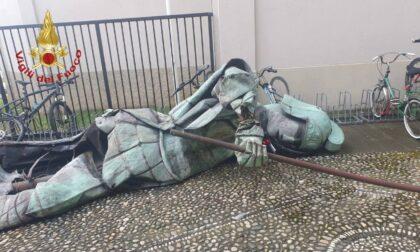 Bufera, a Treviolo San Giorgio cade dal campanile