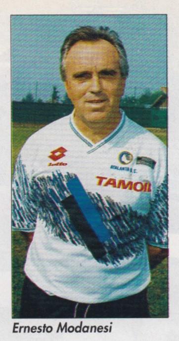 Ernesto Modanesi con la maglia dell'Atalanta
