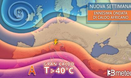 Ondata di caldo africano, punte di oltre 40° e settimana estiva anche al Nord